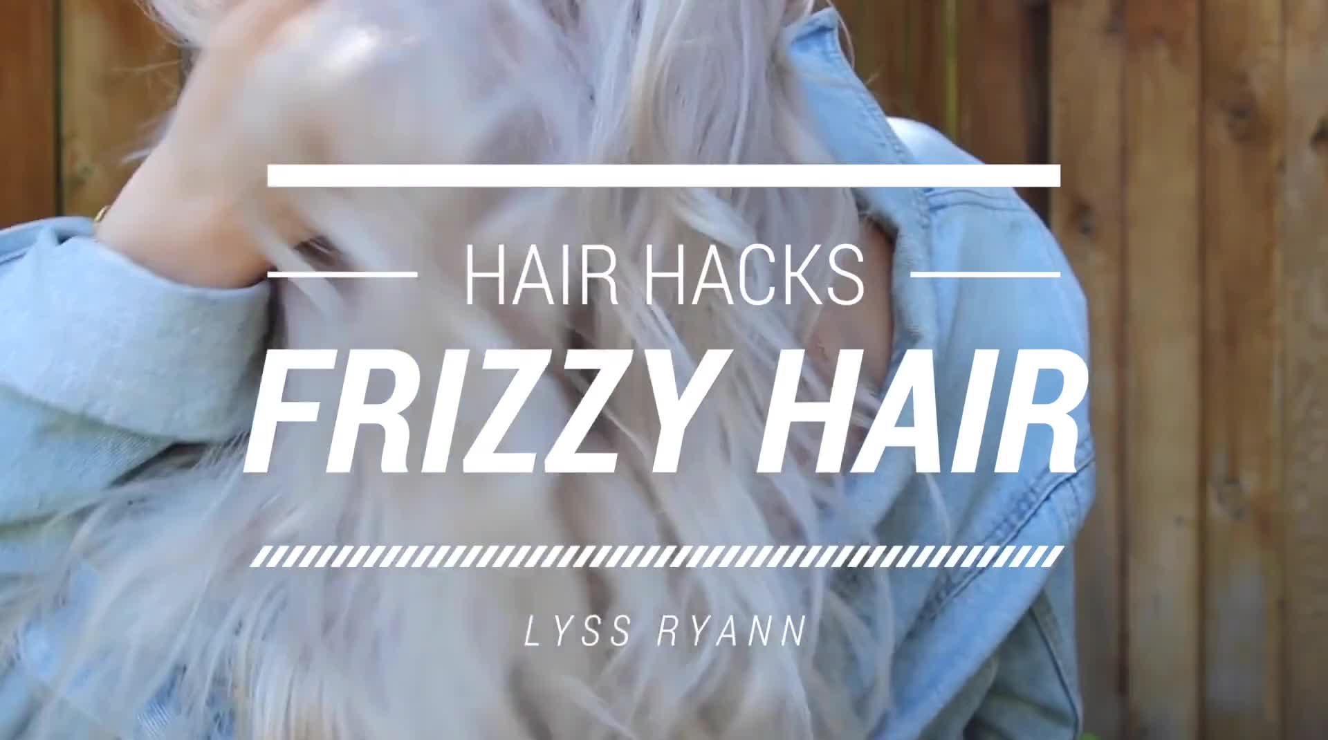 FRIZZY HAIR HACKS! HOW TO FIX FRIZZY HAIR! | LYSSRYANN