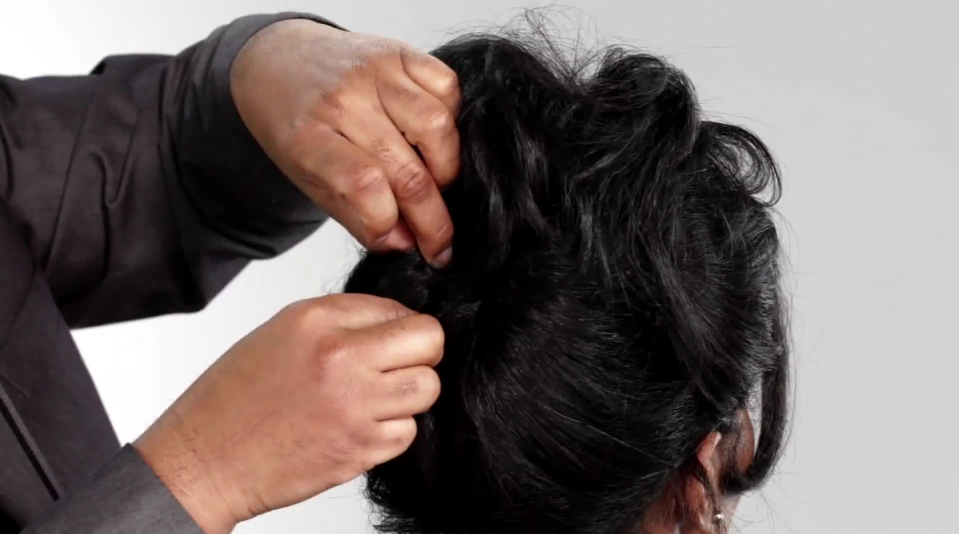 Easy Updo How To with Amla Legend Rejuvenating Oil