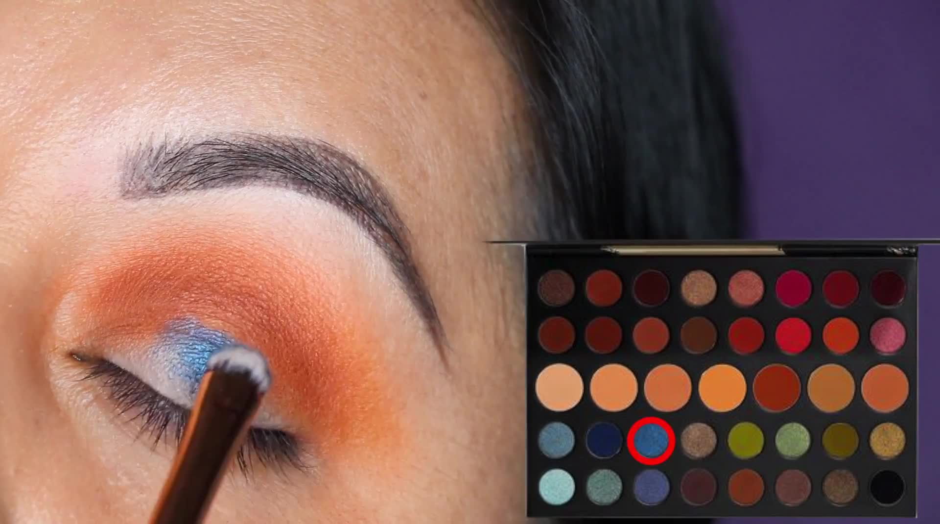 Blue Look feat  Morphe 39A Palette