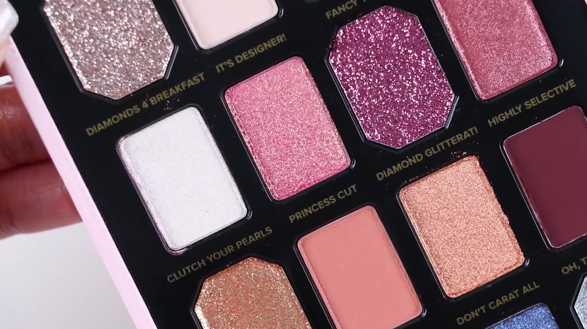 Too Faced Pretty Rich Diamond Light Eyeshadow Palette | SWATCHES