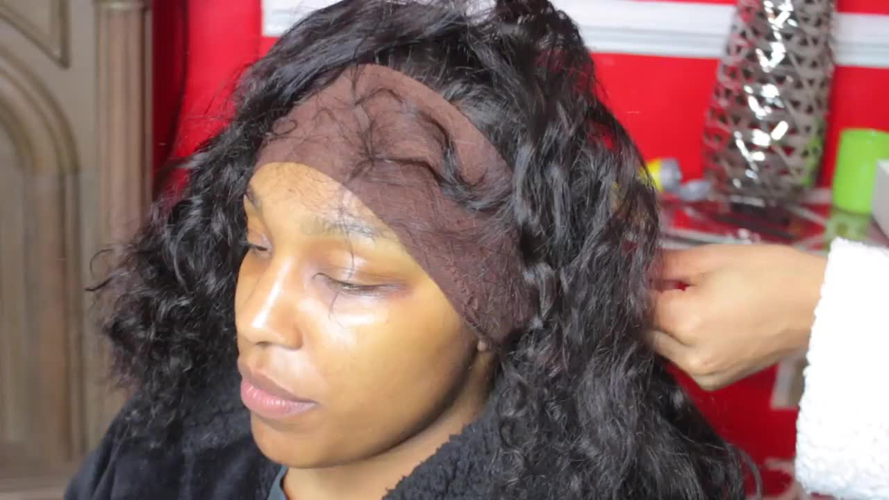 REALISTIC LACE FRONTAL TUTORIAL | QUEENLIFE LOOSE WAVE HAIR