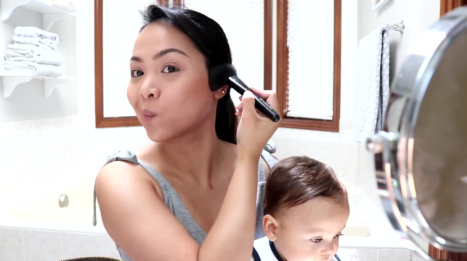 Get Ready With Me - Go To Makeup/Mommy Makeup (Talk Through)