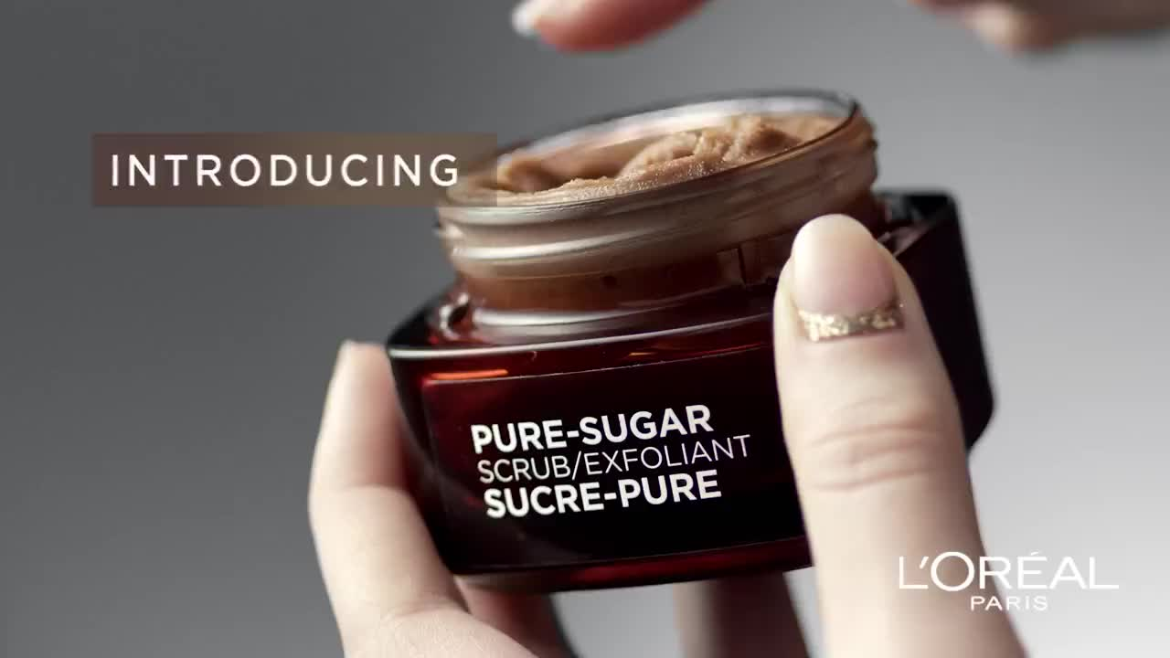 Getting glowing skin with Pure-Sugar Scrub's from L'Oreal Paris