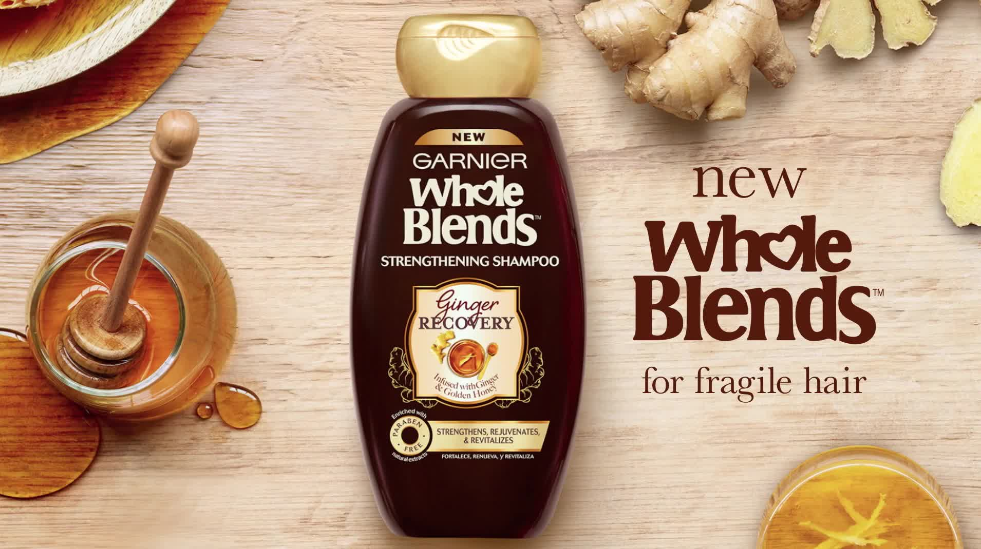 Blended Makes Us Better: Whole Blends Strengthening Haircare Ginger Recovery| Garnier Whole Blends