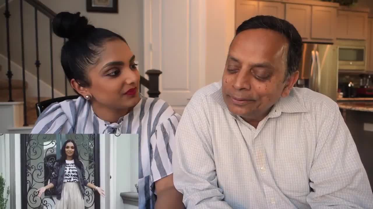 My Indian Dad Reacts to My Instagram!!! | Deepica Mutyala